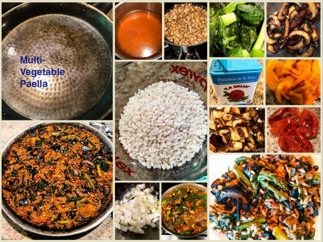 Multi-Veg Paella Collage