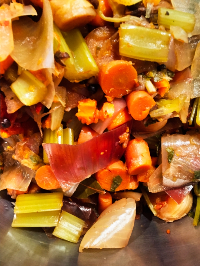 compost from veg stock