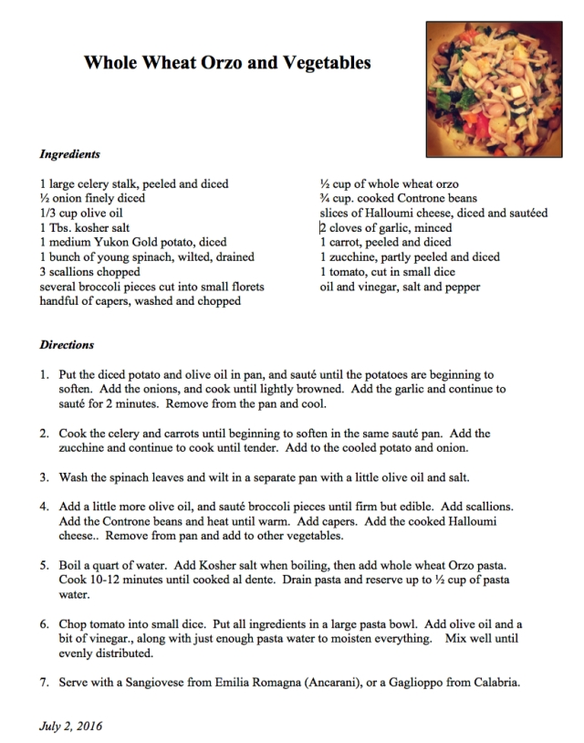 WW Orzo recipe