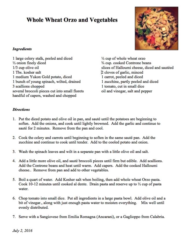 WW Orzo recipe