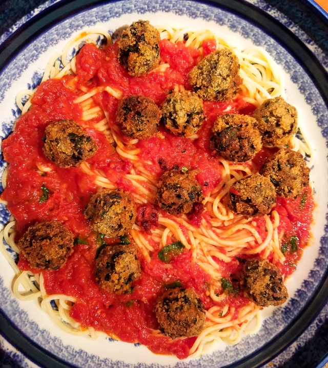 eggplant-polpette-with-spaghetti-and-sauce